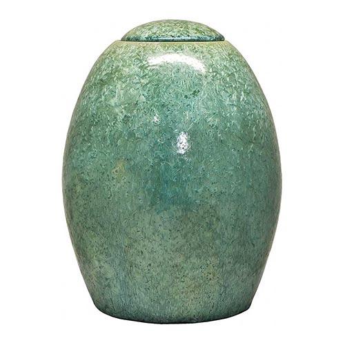 Keramikurne grün