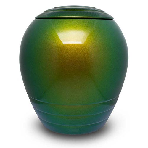Keramik Urne grün