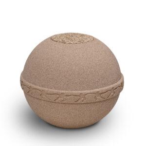 Bio Urne aus Sand für Meerbestattung - Verkauf nur an Selbstabholer