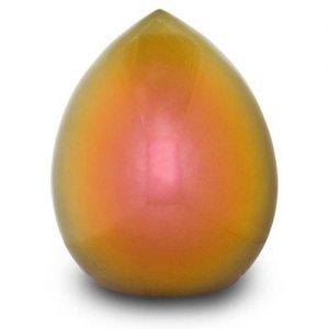 Keramik Urne Tropfenform orange