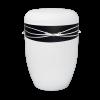 Naturstoff Urne – Swarovski (schwarz auf weiß)