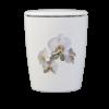 Naturstoff Urne – Orchidee Weiß (weiß)