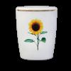 Naturstoff Urne – Sonnenblume (weiß)