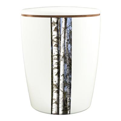 Naturstoff Urne Solide Line Creative Vertikal - Birkenstämme