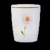 Naturstoff Urne – Margerite (weiß)