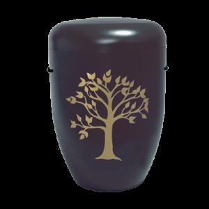 Naturstoff Urne – Friedensbaum schwarz