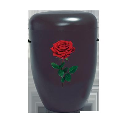 Naturstoff Urne – Power of Life Rose (schwarz)