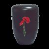 Naturstoff Urne – Power of Life Mohnblume (schwarz)