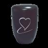 Naturstoff Urne Herz