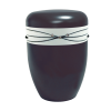 Naturstoff Urne – Swarovski (weiß auf schwarz)