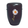 Naturstoff Urne – Power of Life Margerite (schwarz)