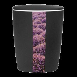 Naturstoff Urne - Heidelandschaft (schwarz)