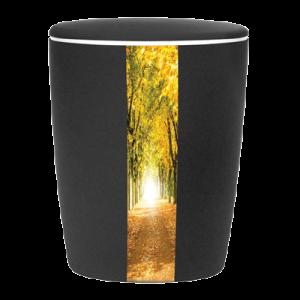 Naturstoff Urne Solide Line Creative Vertikal - Wald Schwarz
