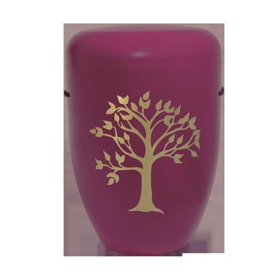 Naturstoff Urne – Friedensbaum bordeaux