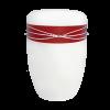 Naturstoff Urne – Swarovski (rot auf weiß)
