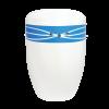 Naturstoff Urne – Swarovski (blau auf weiß)