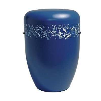 Naturstoff Urne - Designerurne blau