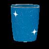 Naturstoff Urne - Designer Sternenhimmel blau