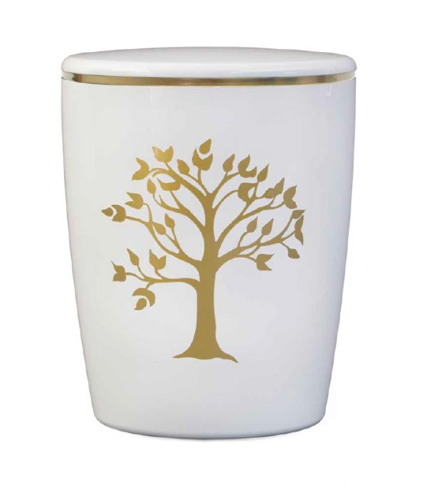 Naturstoff Urne Solide Line Motive - Lebensbaum