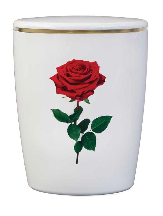 Naturstoff Urne Solide Line Motive - Rose