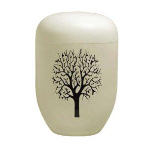 Naturstoff Urne - Blanco