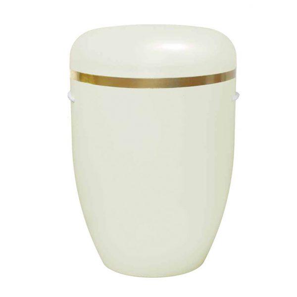Naturstoff Urne – Goldring (café)