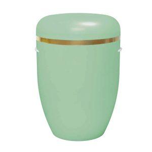 Naturstoff Urne – Goldring (maigrün)