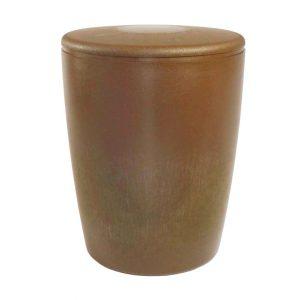 Naturstoff Urne – Basic (braun/flach)