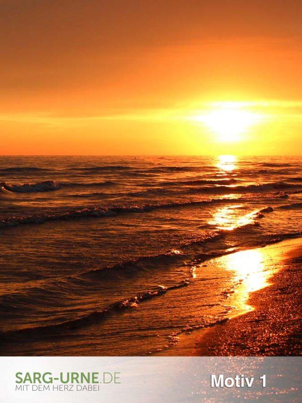 Trauerbilder - Motive Sonnenuntergang (Hochformat)