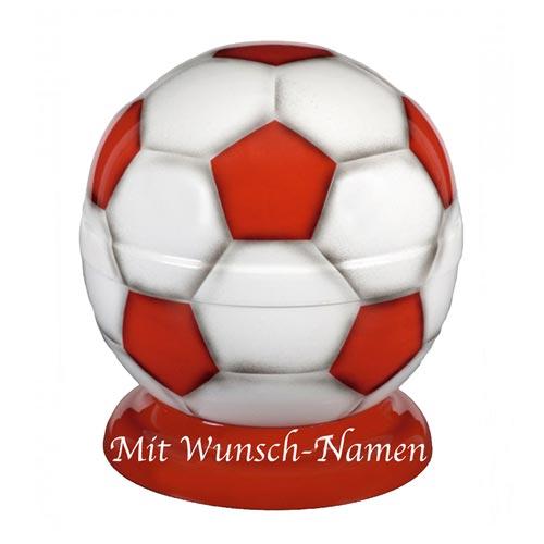 Metall Fussball Urne Rot Weiss
