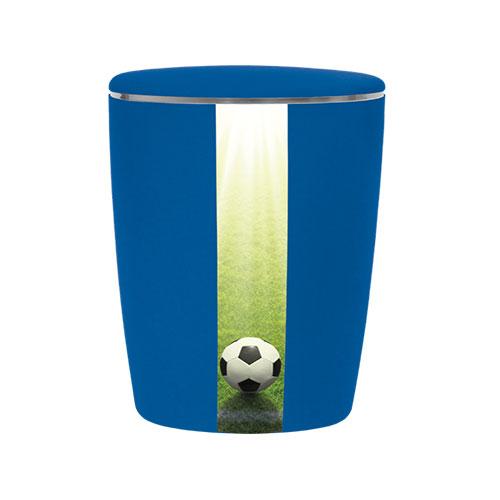 Naturstoff Urne - Fußball (königsblau)