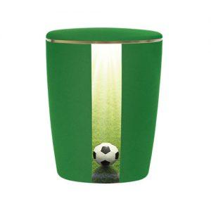 Naturstoff Urne - Fußball (laubgrün)