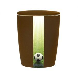 Naturstoff Urne - Fußball (braun)