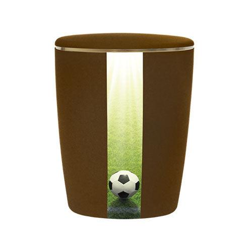 Naturstoff Urne Fußball