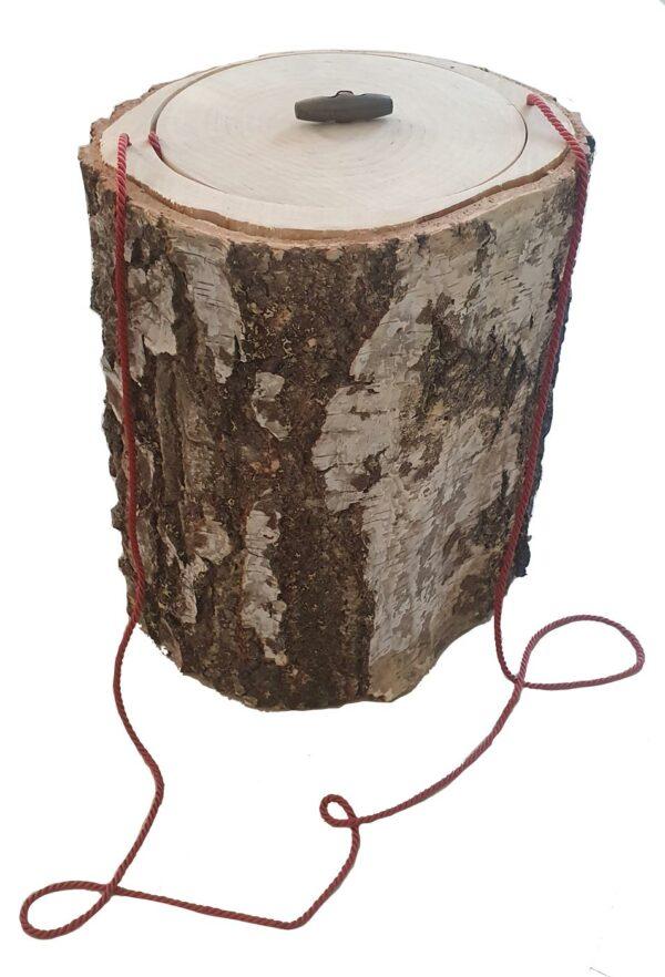 Baumstamm Urne