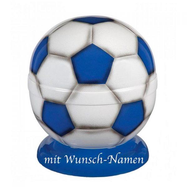 Metall Fußball Urne - (blau/weiß)
