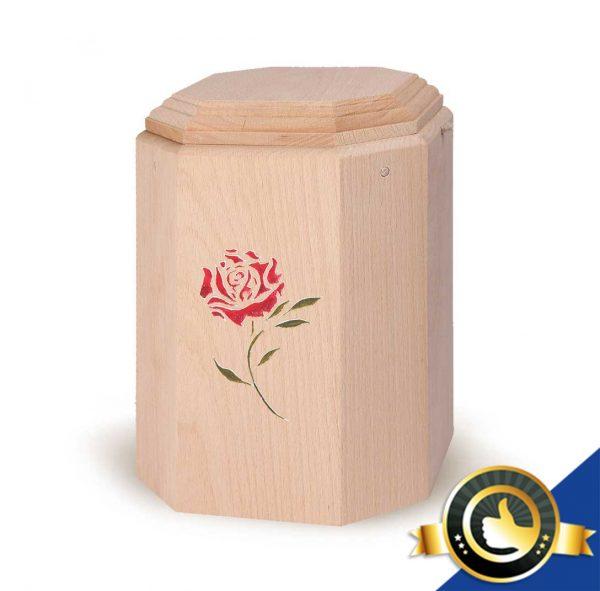 Urne-Bio-Holz-Art-Rote-Rose