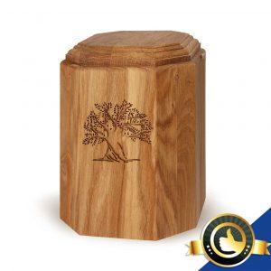 Urne-Bio-Holz-Eiche-Baum
