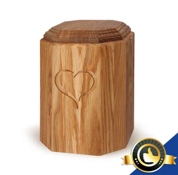 Urne-Bio-Holz-Eiche-Herz