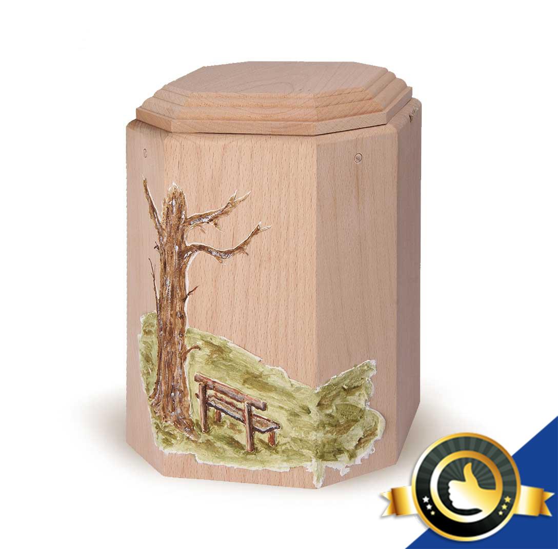 Urne-Bio-Holz-Imago-Baum-Bank