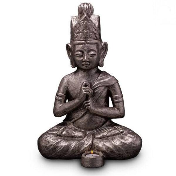 Buddha-urne-silber
