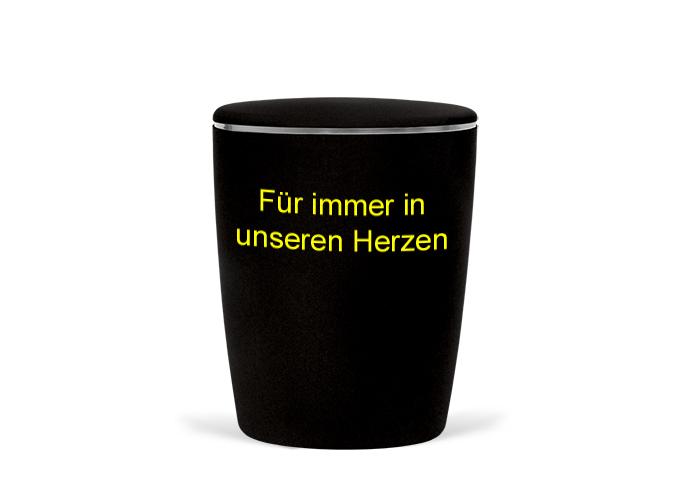 Naturstoff-Fußball-Urne-schwarz-gelb