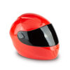 Motorradhelm urne-rot