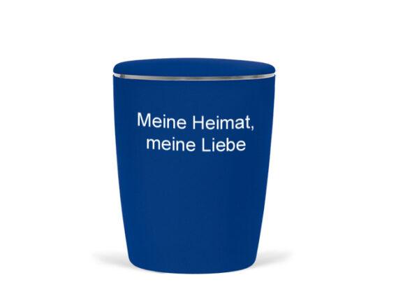 Naturstoff - Fußball Urne - blau weiß - Meine Heimat, meine Liebe - Hamburg