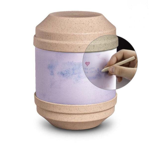 Bio Urne Art - beige - zum selbst gestalten1