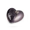 Keramikurne Herz - schwarz - mit Magnetherz