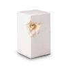 Keramikurne - weiß mit goldenem Herz