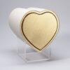 Design Herzurne - Gold mit schwarzem Rand
