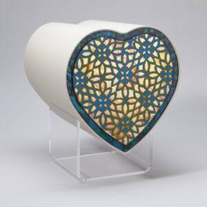 Design Herzurne-ornament-in-blau
