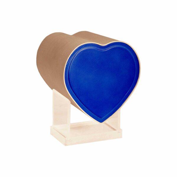 Kinderurne Herz-blau